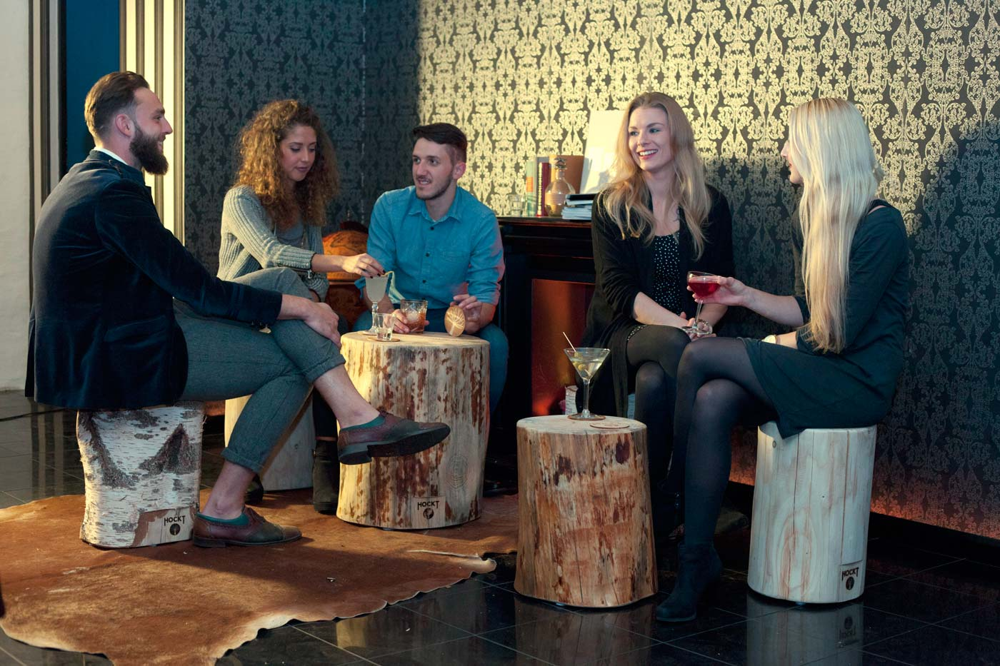 Hocker Sitzgruppe in der Hemingway Bar